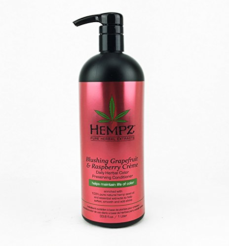 Hempz Blushing Grapefruit & Raspberry Creme Color Preserving Herbal Conditioner, 33.8 Ounce