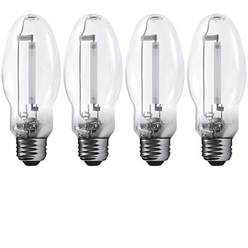 Luxrite LR20690 (4-Pack) LU70/ED17 70-Watt HID High Pressure Sodium Light Bulb, Warm White 2100K, 6300 Lumens, E26 Medium Base (High Pressure Sodium Vapor Lamps)
