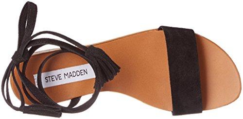 Steve Madden Kapri Sandal, Sandalias de Punta Descubierta para Mujer Negro (Black)