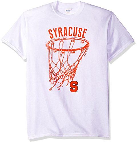 Ncaa Syracuse Orange Basketball Net Drop Short Sleeve Tee  Large  White