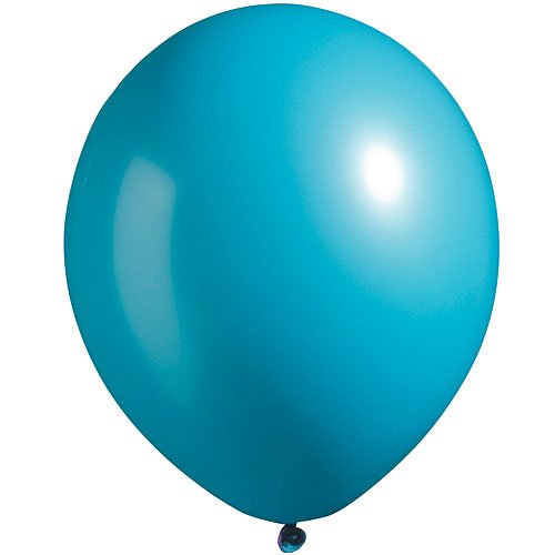 Bermuda Blue Package - Shindigz Bermuda Blue Bright Tone Latex Balloons Package of 100