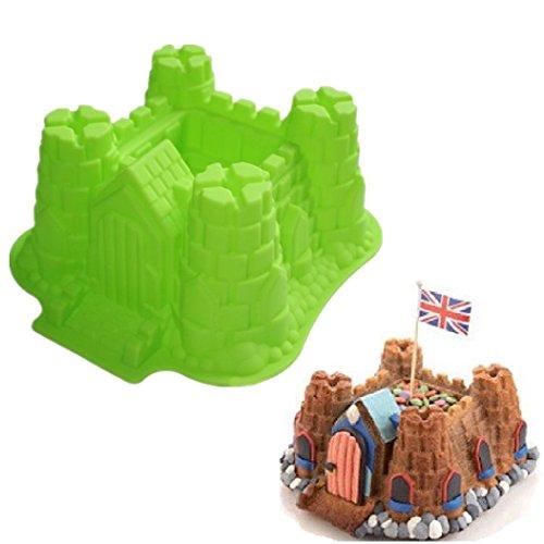 Allforhome(TM) 3d Castle Cake Baking Molds Bundt Pans Tray Bread Loaf Pan Bakeware Silicone Mold