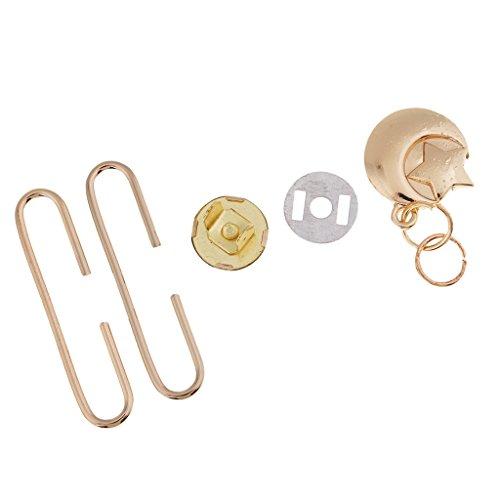 Baoblaze 1 Set Retro C Shape Metal Coin Bag Purse Frame Lock Bag Hardware Accessories - Gold