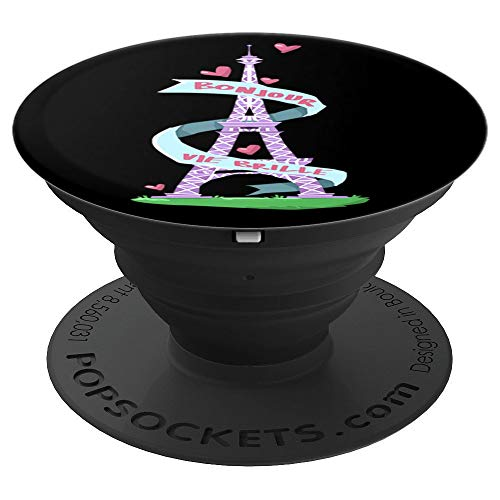 Bonjour Vie Brille Paris Travel Destination - PopSockets Grip and Stand for Phones and Tablets (Wireless Brille)