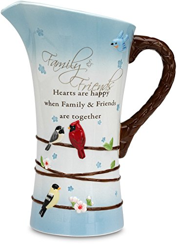 Pavilion Pitcher (Peace, Love and Birds by Pavilion Family and Friends Sentiment Pitcher, 9-1/2-Inch)