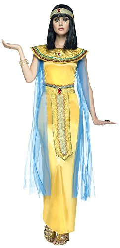 Golden Goddess Egyptian Costume - Golden Cleo Egyptian Adult Costume (Medium/Large)
