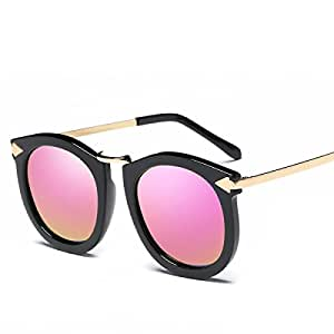 WKAIJC Señora Moda Metal Flecha De Personalidad Caja Cómoda Grande Yurt Polarizadas Gafas De Sol Gafas De Sol ,E