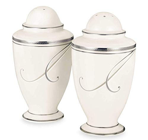 Noritake Platinum Wave Salt and Pepper Shakers by Noritake