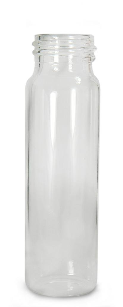 Qorpak GLA-00797 Borosilicate Glass 10 Drams Screw Thread Sample Vial, with 24-400 Neck Finish, Clear (Case of 72)