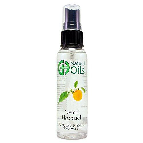 Neroli Hydrosol - 2 fl oz Plastic Bottle w/Black Spray Cap - 100% pure, distilled from essential oil