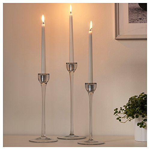 Large Product Image of Swedish Candles 100% Stearin 9 Tall 3/4 Gauge Tapered Smokeless Unscented 20-pack Premium Quality Made in Sweden Perfect Wedding Dinner Party Candle (20, White)