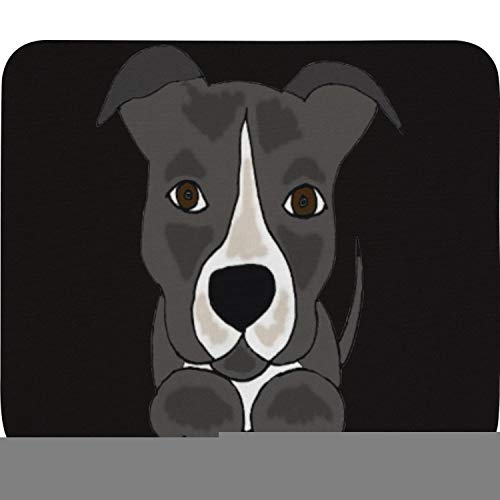 Cute Grey Pitbull Puppy Dog Family Game Office Wrist Rest Pad 8
