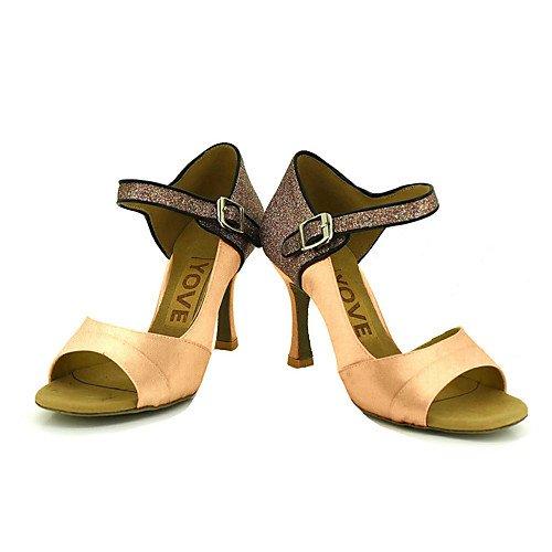 T.T-Q Zapatos de Baile de la Profesión de Las Mujeres de Bronce Bronce