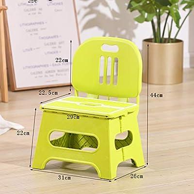 ZH Mesa y Silla Plegables para Infantiles, Mesa de Actividades Plegable portátil para niños pequeños, Juegos de Mesa de plástico y 2 sillas para niñas de niños: Amazon.es: Hogar