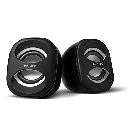 Philips SPA35W/94 Notebook USB Speakers (White)