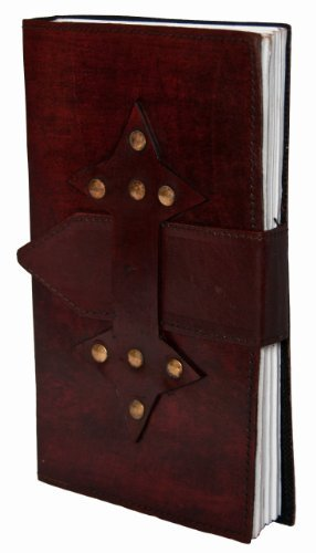 INDIARY Luxury Leather Journal Notebook And Handmade Paper 9x5