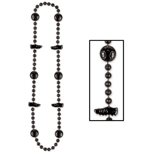 Soccer Beads black Party Accessory