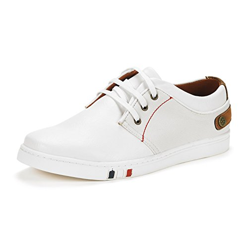 Bruno Marc Men's NY-03 White Fashion Oxfords Sneakers Size 10.5 M US