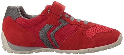Geox Jr Snake Boy a, Zapatillas Para Niños Rojo (RED/GREYC0025)