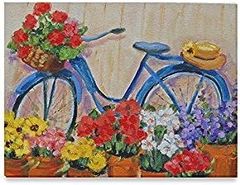 Día de Navidad/año nuevo regalo para bicicleta con flores lienzo ...