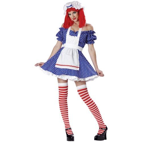 Racy Rag Doll Adult Costume - X-Small (Racy Rag Doll)