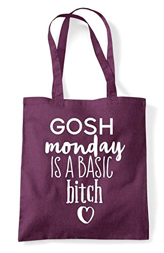 Monday Basic Bag Bitch Is Shopper Plum A Tote Gosh Statement dgt4qd