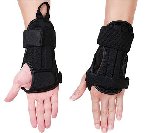 CTHOPE Wrist Guard, Impact Protective Glove Wrist Brace Support Pads for Snowboarding, Skating, Skiing, Motocross, Mountain Biking Protective Gear (Black, M)
