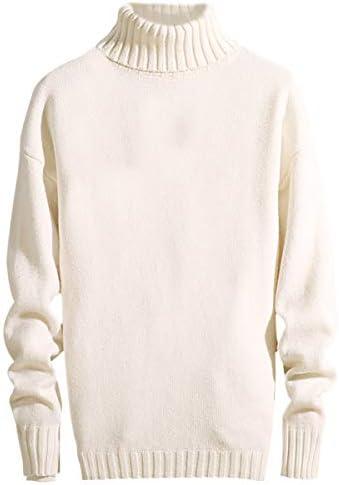 メンズ ニットセーター タートルネックセーター リブデザイン シンプル 7色 純色 綿 暖かい おしゃれ かぎ針編み ニードルニット カジュアルセーター プルオーバー 綿 秋冬 防寒