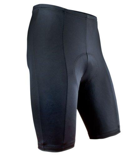 AERO|TECH|DESIGNS Men's Black P. Padded Bike Shorts, X-Large