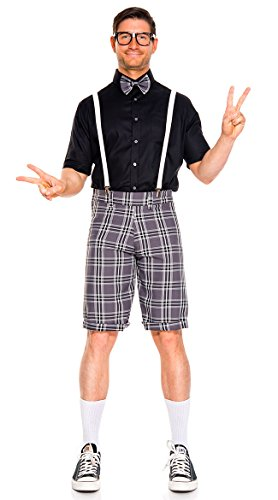 Music Legs Classroom Nerd Men's Costume Grey/Black (Large)