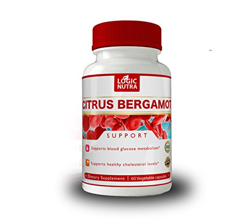 Bergamot Capsules by Logic Nutra Cholesterol Support, Helps Maintain Balanced Cholesterol Levels to Aid Heart and Cardiovascular Health. Gluten Free, Vegan, 60 Capsules