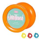 YOSTAR Yoyo for Kids, Responsive Yoyo MAGICYOYO D2 One Third - Orange Plastic Yoyo - Looping Yoyo for Beginner, Adults, Bearing Changeable, 3 Strings, Easy to Play.