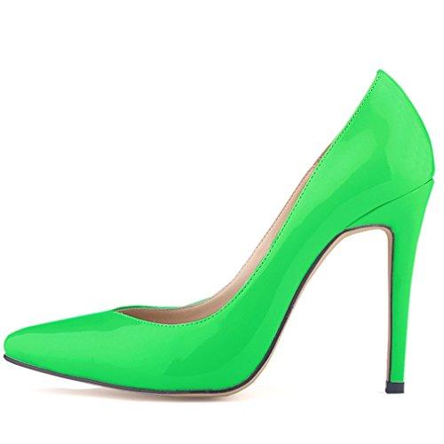 Samsay Delle Talloni Donne Sottolineato Scarpe Verdi Vestito Pompe Toe Stiletto Alti d5tqPq