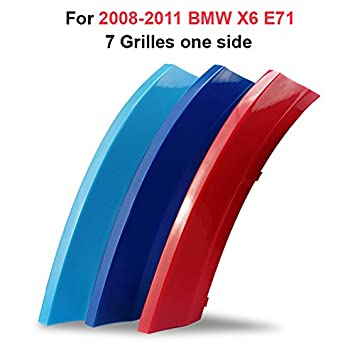 7 Rejillas longzhimei Adecuado para 2008-2013 X5 E70 M-Colored Rejillas Frontales Cover Parrilla Delantera de Coche 3pcs