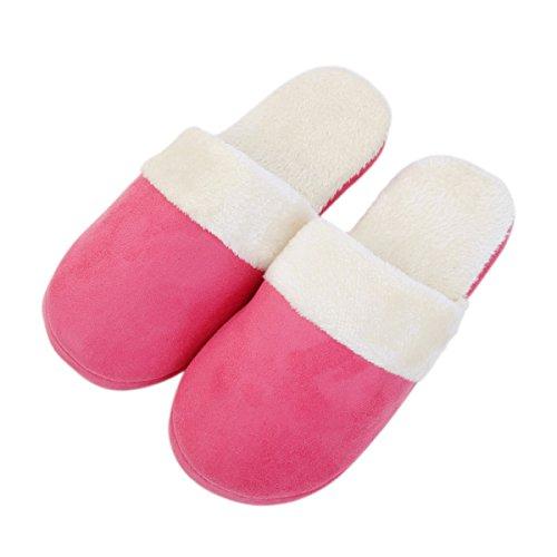 Pink Classic Hot Cozy Slippers TrendsBlue House Fleece Plush FO7wqg