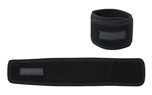 Phiten Aqua Titanium Necklace - Phiten Titanium Wrist/Ankle Wrap (1 Pair), One Size, Black