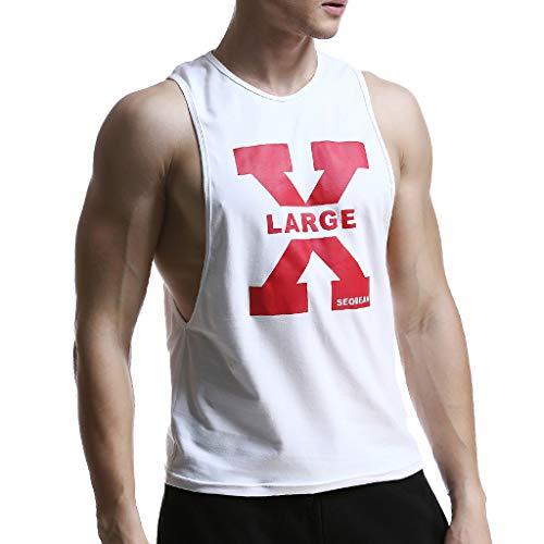 - YKARITIANNA Men's Summer Casual Fashion Air-Permeable Printing Leisure Home Sports Vest 2019 Summer Hot Sale
