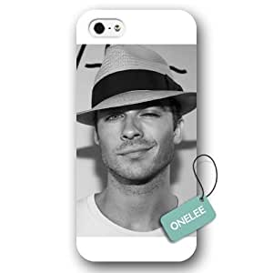 Onelee(TM) - The Vampire Diaries Ian Somerhalder White Frosted iPhone 5/5s Protective Case & Cover - White 3