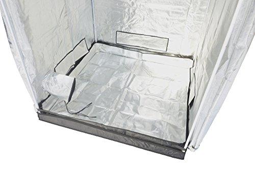 "41CLvf7W1TL - Indoor Grow Tent,Smart 32""x32""x62"" Reflective 600D Mylar Hydroponic Grow Tent with Heavy Duty Anti-Rust Zipper for Indoor Plant Growing Black 3'x3'"