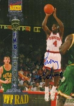 Autograph Warehouse 61086 Anthony Goldwire Autographed Basketball Card Houston 1994 Signature Rookies