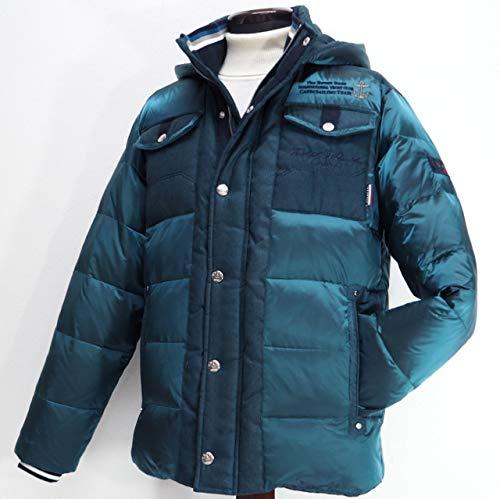 40496 秋冬 ダウンコート ハーフコート フード取り外し可 グリーン(緑) サイズ 46(M) CAPRI カプリ 紳士服 メンズ 男性用