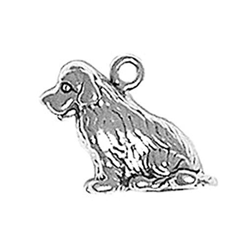 Newfoundland Dog Charm - 925 Sterling Silver Classic Behaved Newfoundland Dog Charm For Bracelet/Necklace