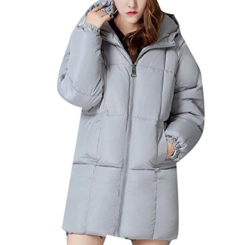 Fit Womens Sezioni Slim Long Down Againg Grey Winter Cotton Basic Hooded 4xqOAYwda