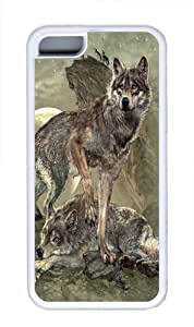 Defending the Pack Wolf Custom iPhone 5C Case Cover TPU White
