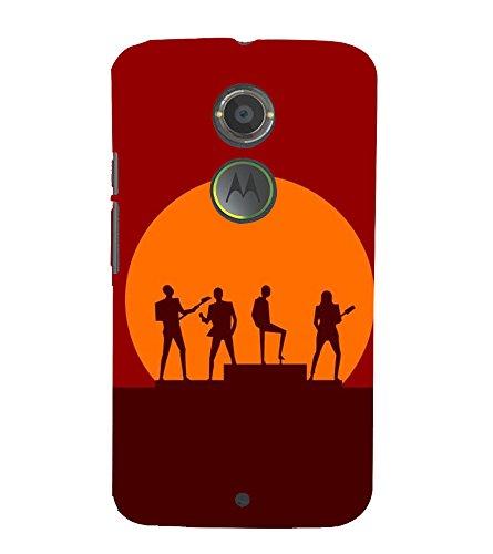 Fiobs Designer Back Case Cover for Motorola Moto X2 :: Motorola Moto X  2nd Gen   Music Guitar Gana Sun