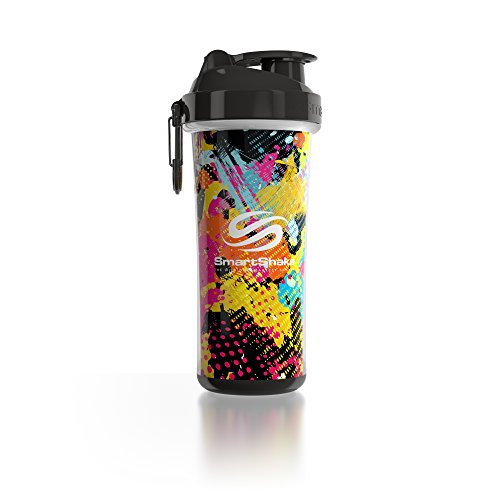 SmartShake Double Wall Bottle, 25 oz Shaker Cup, Jungle