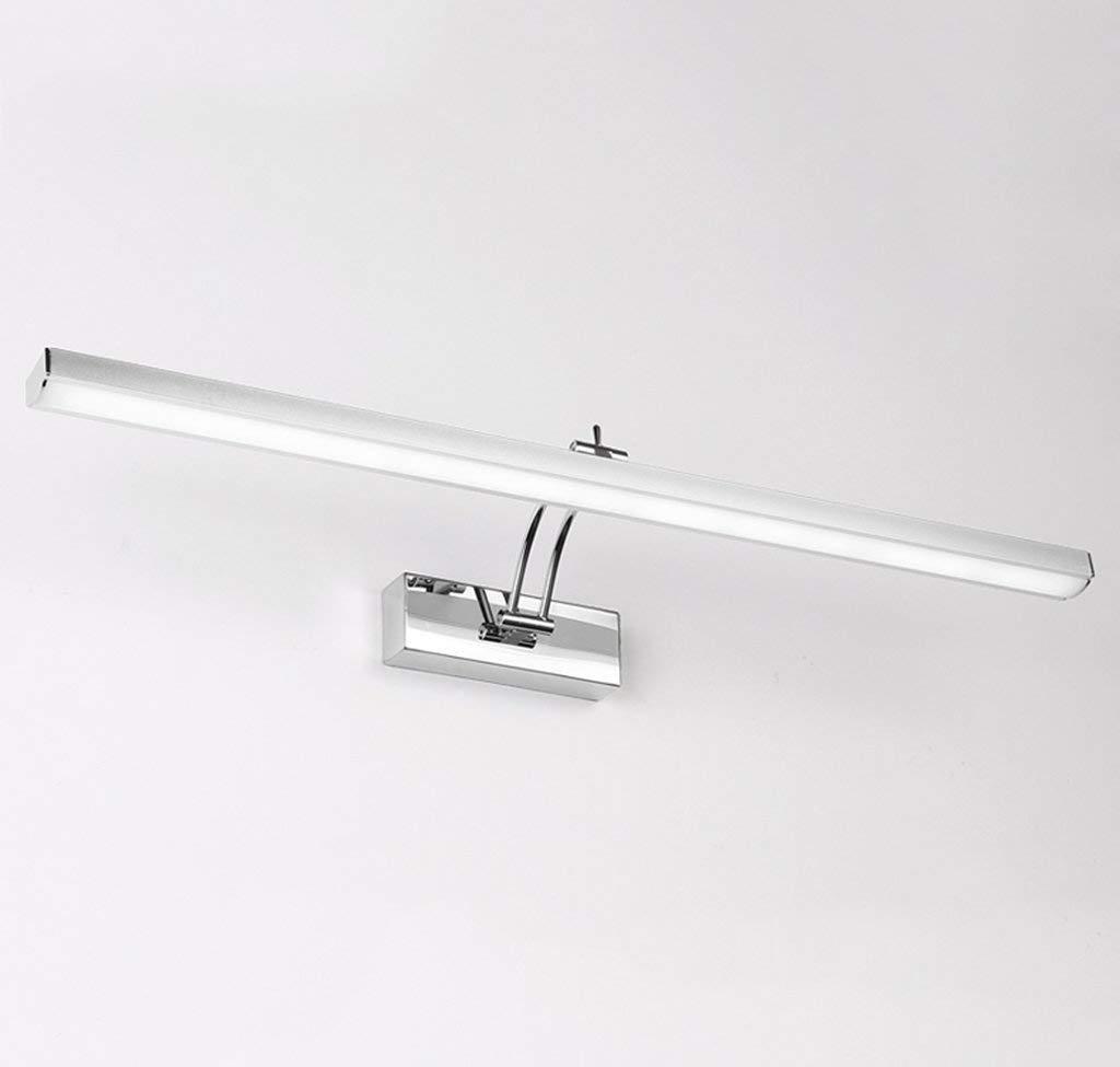 Mirror Lamps Home LED-Beleuchtung Bad & Duschräume Make-up-Beleuchtung , Badezimmer, Schlafzimmer Spiegel Feuer aus Edelstahl kalt zu wissen , warmweißes Licht. (Farbe   A Weiß Light-10w 60cm)