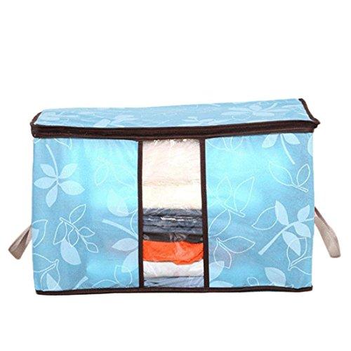 HANYI Hot Sale Storage Box Portable Organizer Clothing storage bag (604035cm, Sky (Media Storage Set Armoire)