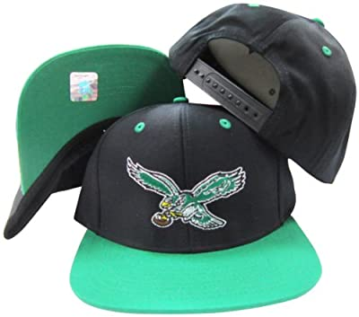Philadelphia Eagles Black/Green Two Tone Plastic Snapback Adjustable Plastic Snap Back Hat/Cap