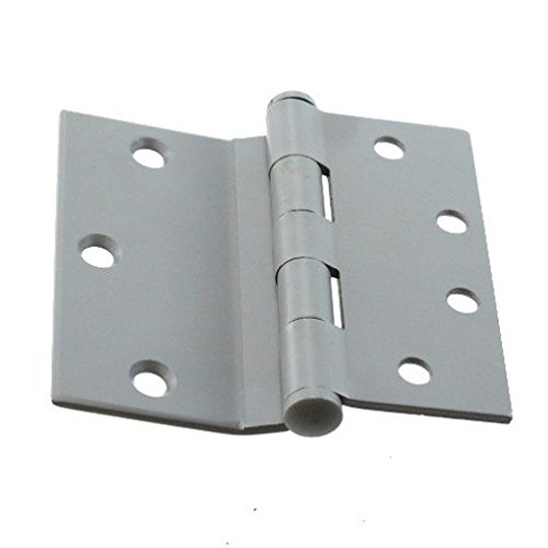 4-1/2'' X 4'' Prime Coated Half Surface Butt Hinge - Sold By The Box 1-1/2 Pairs (3 Pieces)